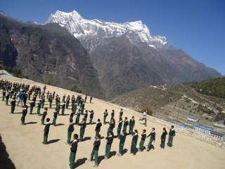 Namche school yard